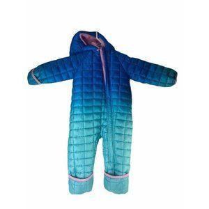 Snozu Baby Girls Hooded Snowsuit Blue Ombre Zip